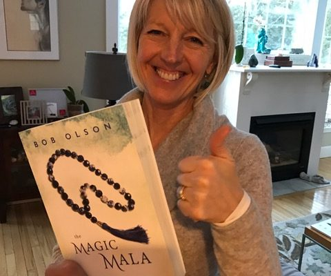 Melissa holding The Magic Mala